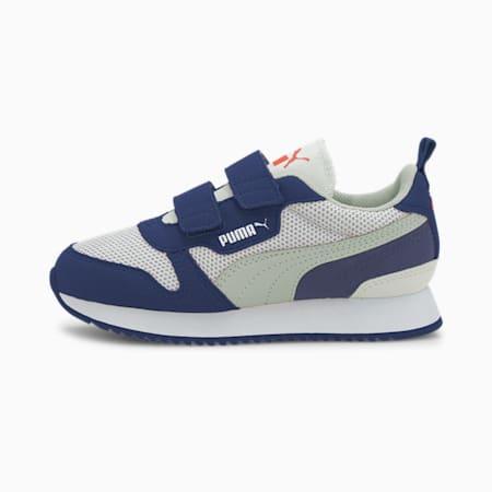 Dziecięce buty sportowe R78, White-Gray-Elektro Blue, small