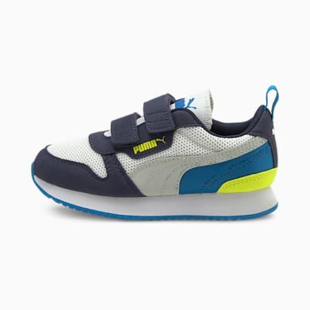 Dziecięce buty sportowe R78, Puma White-Gray Violet-Peacoat, small
