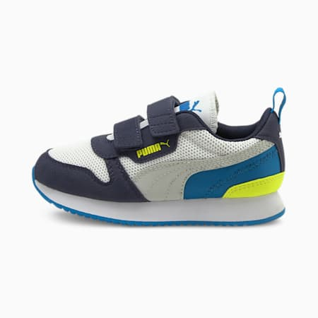 R78 Kids' Trainers, Puma White-Gray Violet-Peacoat, small
