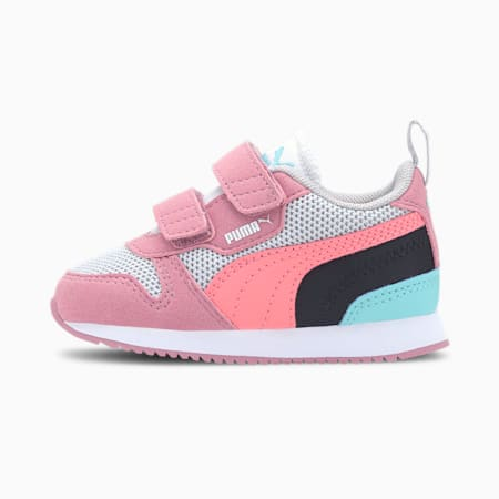 R78 Babies' Trainers, Gray Violet-Salmon Rose-Foxglove, small-SEA