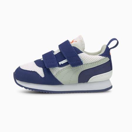R78 Babies' Trainers, White-Gray-Elektro Blue, small