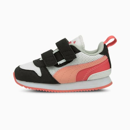 R78 Babies' Trainers, White-Apricot Blush-Black, small