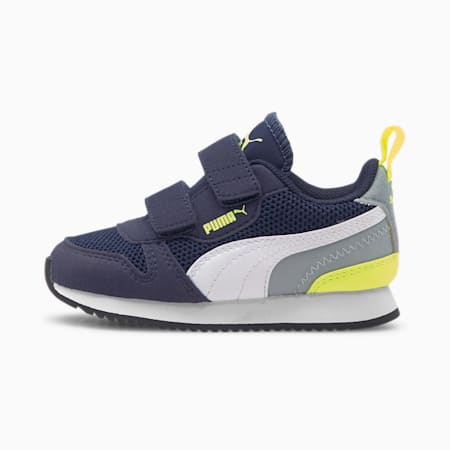 R78 Babies' Trainers, Peacoat-Yellow Alert, small