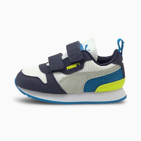 R78 Babies' Trainers, Puma White-Gray Violet-Peacoat, small