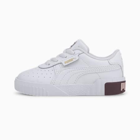 Cali Toddler Shoes, Puma White-Burgundy, small