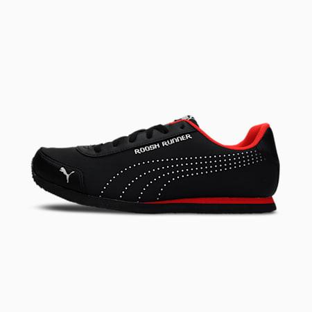 Roosh Runner V2  Men's Shoes, Puma Black-High Risk Red, small-IND