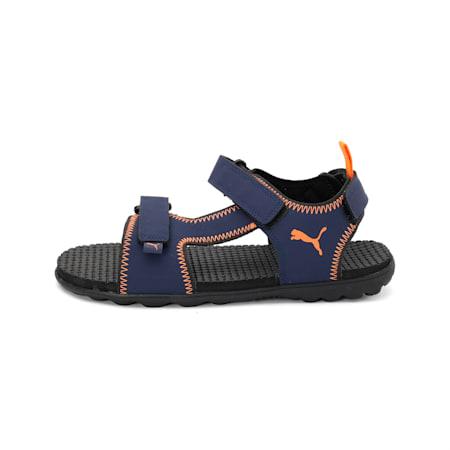 Revolution IDP Sandals, Peacoat-Vibrant Orange, small-IND