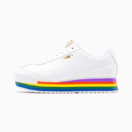 Roma Amor Rainbow Women's Sneakers, Puma White-Puma White, small