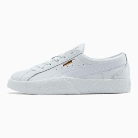 Zapatos deportivos de cuero para mujer LoveTumbled, P.White-P.White-P.White, pequeño