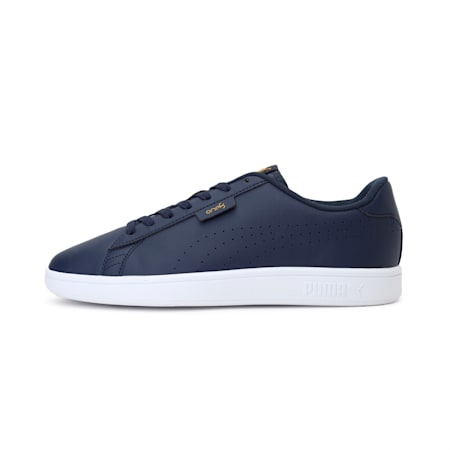 PUMA x one8 Virat Kohli Smash v2 SL Sneakers, Peacoat-Peacoat-Saffron, small-IND