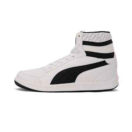 PUMA x one8 Virat Kohli Mid V2 IDP Sneaker, Puma White-Puma Black, small-IND