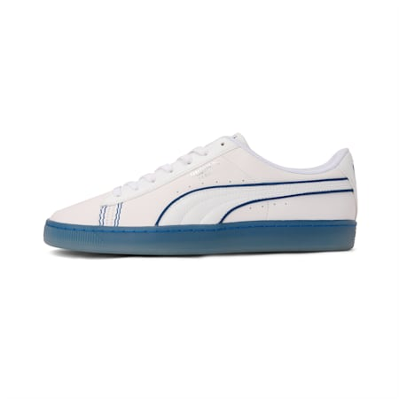 PUMA x one8 Virat Kohli Basket Classic Sneakers, White-Silver-Limoges, small-IND