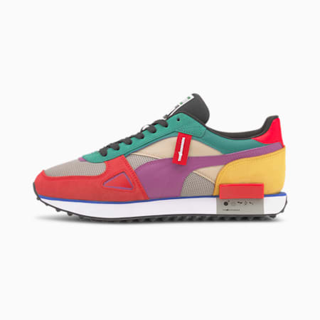 PUMA x THE HUNDREDS Future Rider Trainers, MOLTEN LAVA-Amethyst-White, small