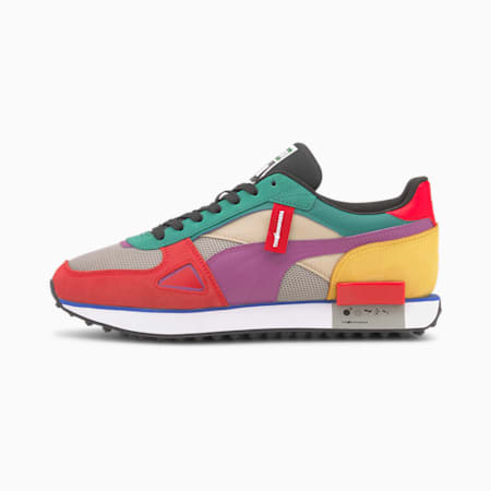 PUMA x THE HUNDREDS Future Rider Trainers, MOLTEN LAVA-Amethyst-White, small-SEA
