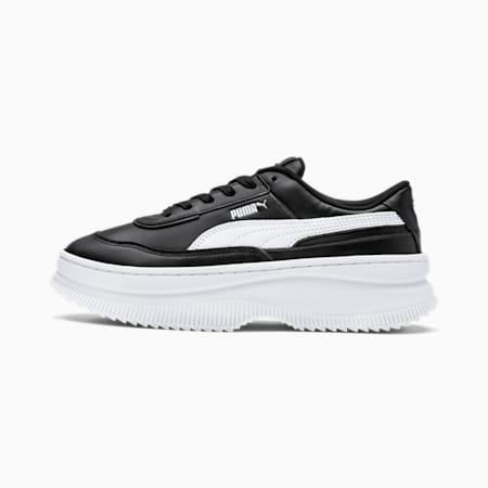Skórzana damskie buty sportowe Deva, Puma Black-Puma White, small