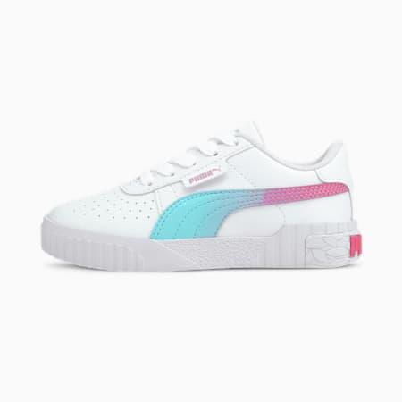 Cali Space Little Kids' Shoes, Puma White-ARUBA BLUE, small