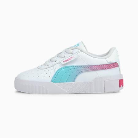 Cali Space Toddler Shoes, Puma White-ARUBA BLUE, small