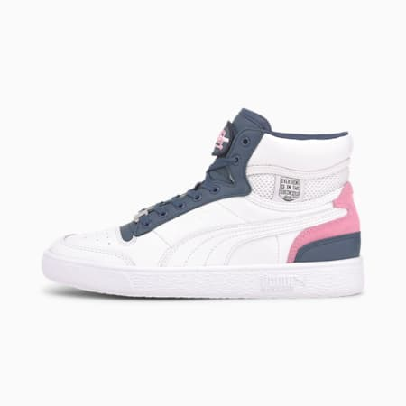 PUMA x VON DUTCH Ralph Sampson Mid Trainers, Puma White-Dark Denim, small