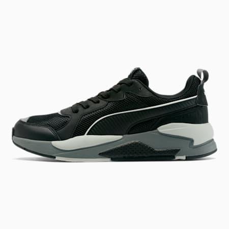 X-RAY Mesh Men's Sneakers, Black-Black-Metallic Silver, small