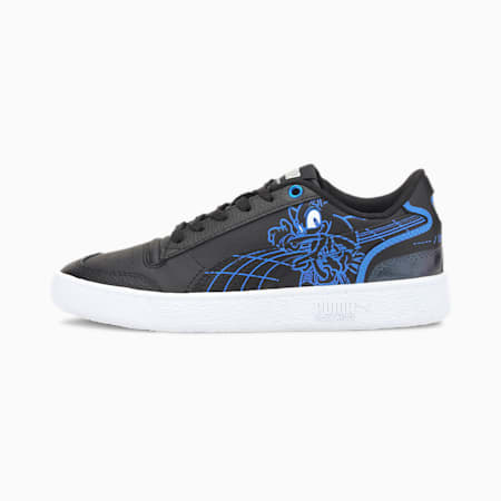 PUMA x SEGA Ralph Sampson Kids' Shoes JR, Puma Black-Palace Blue, small