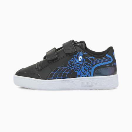 PUMA x SEGA Ralph Sampson Little Kids' Shoes, Puma Black-Palace Blue, small