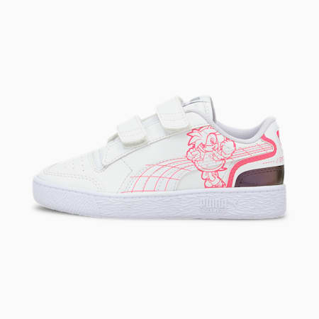 PUMA x SEGA Ralph Sampson Little Kids' Shoes, Puma White-Glowing Pink, small