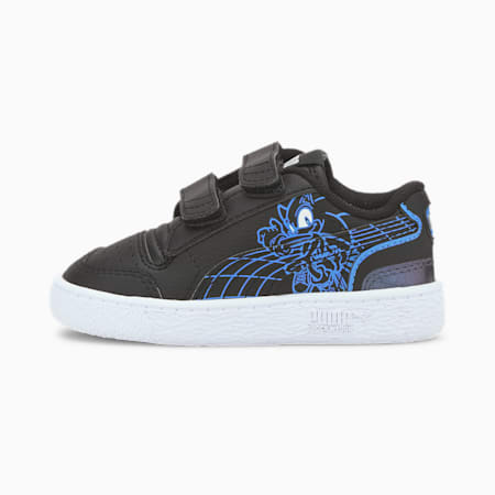PUMA x SEGA Ralph Sampson Toddler Shoes, Puma Black-Palace Blue, small
