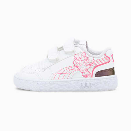 PUMA x SEGA Ralph Sampson Toddler Shoes, Puma White-Glowing Pink, small