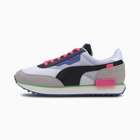 Zapatos deportivos Future Rider Play On para mujer, P White-Gray Violet-P Black, pequeño