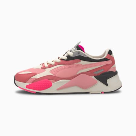 RS-X³ Puzzle Women's Sneakers, Rapture Rose-Peony-Whi White, small