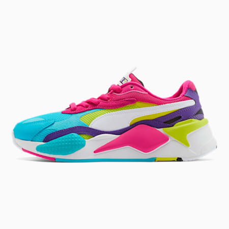 RS-X³ Puzzle Women's Sneakers, Beetroot Purple-Puma White, small