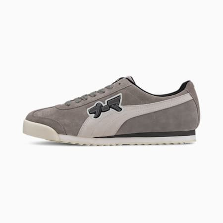 Roma Classic Japanorama Sneakers, Steel Gray-Whisper White, small