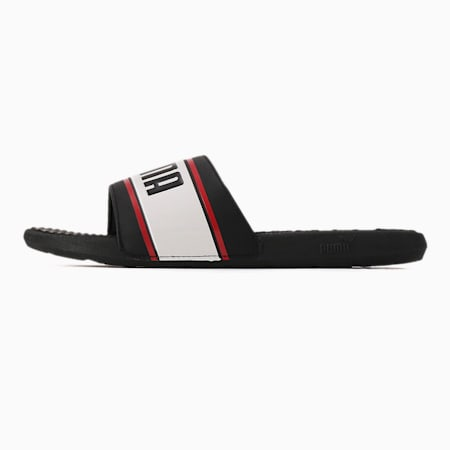 Cool Cat Sport Retro Men's Slides, Puma Black-PW-High Risk Red, small