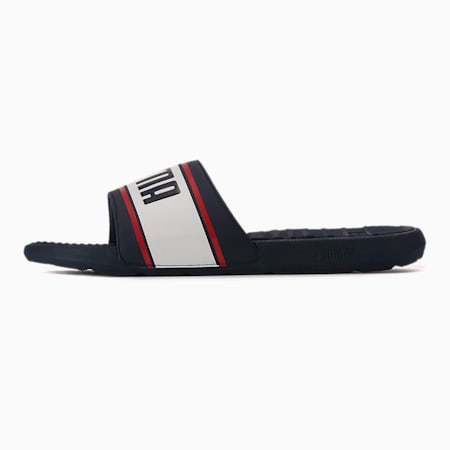 Cool Cat Sport Retro Men's Slides, Peacoat-PW-High Risk Red, small