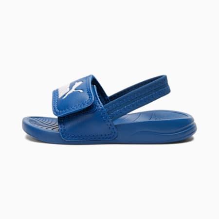 Popcat 20 Backstrap Babies' Sandals, Star Sapphire-Puma White, small-SEA