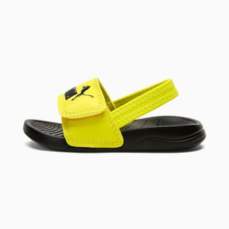 Popcat 20 Backstrap Babies' Sandals, Puma Black-Sulphur Spring, small-SEA