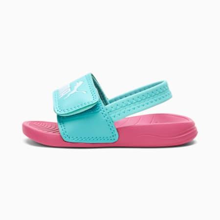 Popcat 20 Backstrap Babies' Sandals, Sachet Pink-Island Paradise, small-SEA