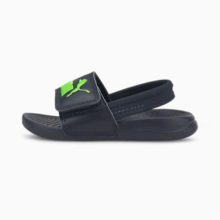 Popcat 20 Backstrap Babies' Sandals, Peacoat-Green Flash, small-SEA