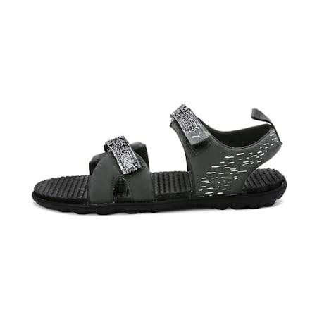Plaid IDP Sandals, Dark Shadow-Puma White, small-IND