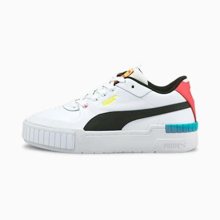 Zapatos deportivos Cali Sport para mujer, Puma White-Elektro Pool, pequeño