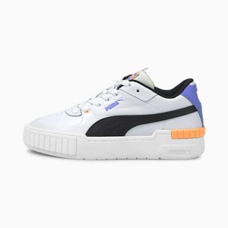 Zapatos deportivos Cali Sport para mujer, Puma White-Soft Fluo Orange, pequeño