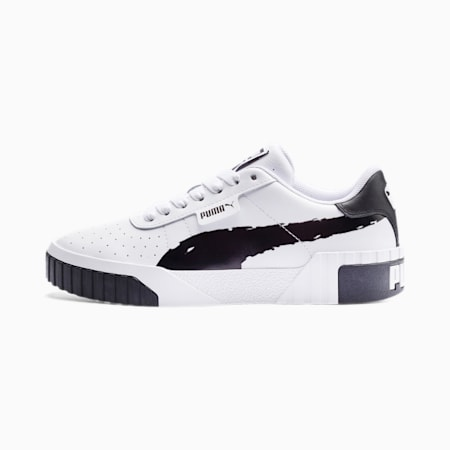 Cali Brushed Women's Trainers, Puma Black-Puma White, small