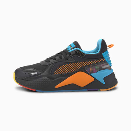 PUMA x TETRIS RS-X Sneakers JR, Puma Black-Luminous Blue, small