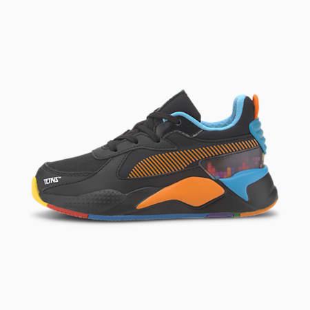 PUMA x TETRIS RS-X Little Kids' Shoes, Puma Black-Luminous Blue, small