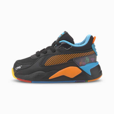 PUMA x TETRIS RS-X Toddler Shoes, Puma Black-Luminous Blue, small