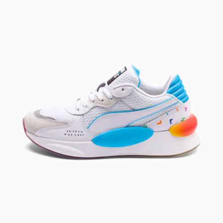 PUMA x TETRIS RS 9.8 Sneakers JR, Puma White-Luminous Blue, small