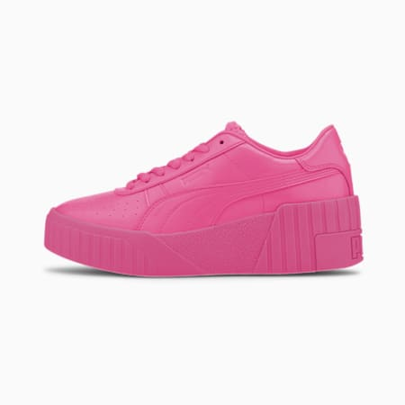 Cali Wedge PP Women's Trainers, Luminous Pink-Metallic Pink, small