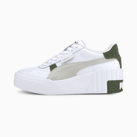 Cali Wedge Mix Women's Sneakers, Puma White-Thyme, small