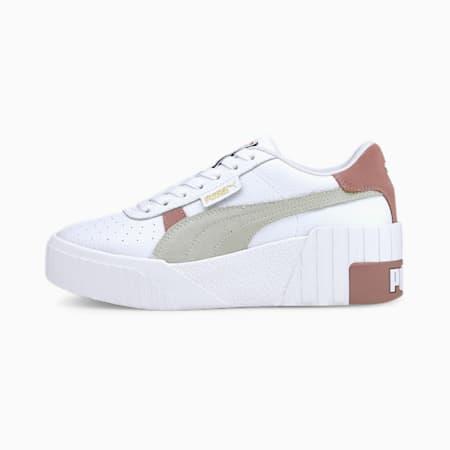 Cali Wedge Mix Women's Sneakers, Puma White-Foxglove, small