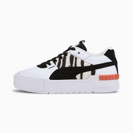 Zapatos deportivos Cali Sport Wildcatspara mujer, Puma White-Puma Black, pequeño